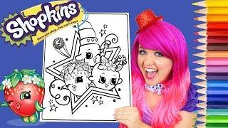 Coloring Shopkins Strawberry Kiss, Lippy Lips, Apple Blossom Colored Pencil | KiMMi THE CLOWN
