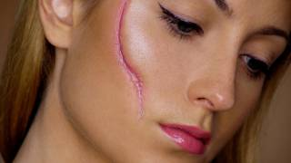 easy scar  last minute halloween makeup tutorial