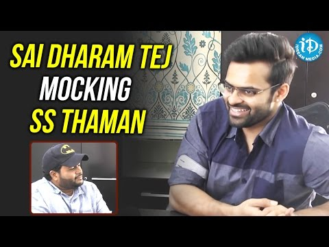 Sai Dharam Tej Mocking SS Thaman || #Winner || Special Interview || Gopichand Malineni