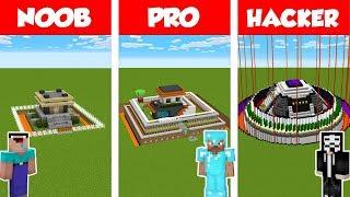 Minecraft NOOB vs PRO vs HACKER: SAFEST HOUSE BUILD CHALLENGE in Minecraft / Animation