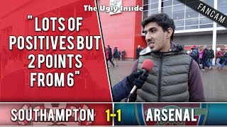 Lots of positives but 2 points from 6 | Southampton 1-1 Arsenal | The Ugly Inside