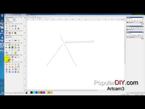 populardiy สอน Artcam ตอนที่3 Vector tools