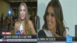 Rueda de Prensa Miss Universo 2015: Ariadna Gutierrez y Paulina Vega