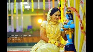 Kerala Romantic Hindu Wedding Highlight | Dhanesh-Sreenidhi | From Crystalline
