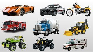 Learning Street Vehicles Names and Sounds for Kids | Learn Transport Vehicles for Children