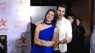 Divyanka Tripathi & Her Hausband Vivek Dahiya At Success Party Of Nach Baliye 9
