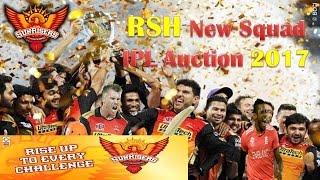 Sunrisers hyderabad team 2017   SRH Team  players list   bought in   IPL 2017 Auction