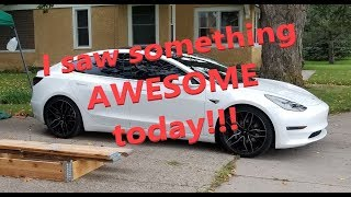 We spotted an ultra-rare prototype EV! Tesla Model 3 experiences....