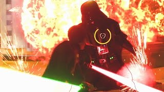 Star Wars Battlefront: Luke vs Darth Vader In Cloud City! (Funny Moments w/Friends)