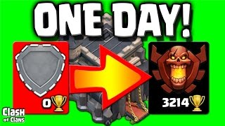 """Clash of Clans """"World Record"""" Town Hall 9 Champion in a DAY!"""