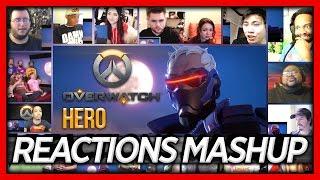 """Overwatch Animated Short """"Hero"""" Reaction's Mashup (All Stars)"""