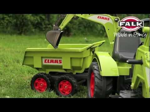 Ogromny traktor koparka dla dzieci na pedały wywrotka CLAAS AXOS 1010W