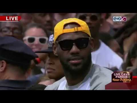 LeBron James Greets the Crowd   Cavaliers Championship Parade   June 22, 2016   NBA Finals