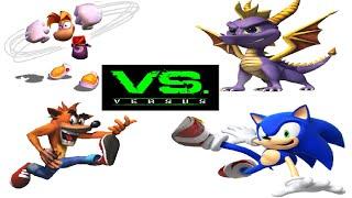 Rayman VS Crash VS Spyro VS Sonic DeathBattle [Battle of Forums #3]
