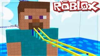 MINECRAFT STEVE IN ROBLOX!? (Cart Ride into Steve from Minecraft)