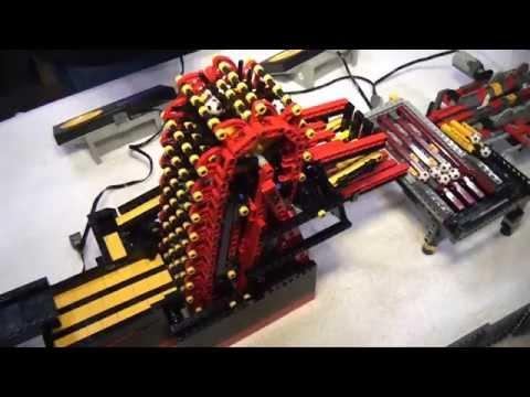 Record breaking LEGO great ball contraption Rube Goldberg Brickworld Chicago 2014