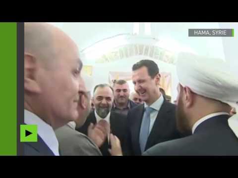 Syrie : rare apparition du président Assad en dehors de Damas à l'occasion de l'Aïd