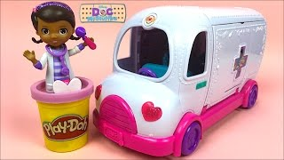 DISNEY JUNIOR DOC MCSTUFFINS DOC'S MOBILE CLINIC - TAKE CARE OF DOC'S PETS ON THE GO! - UNBOXING