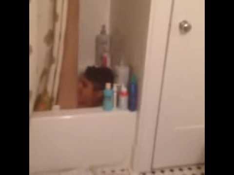 Why mom?? :D taking a bath