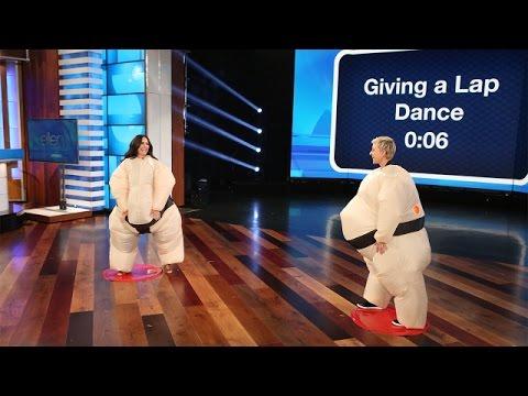 Ellen and Demi Lovato Play Su Move It Move It