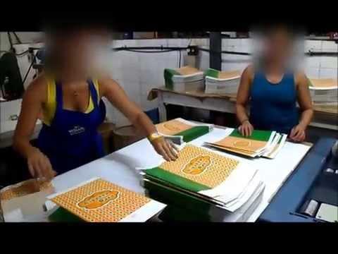 Máquina para produção de sacolas e bolsas de papel
