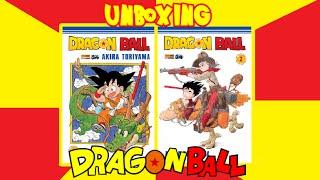 Mangá - Dragon Ball: Volume 1 e 2 - UNBOXING