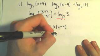 Solving Logarithmic Equations - Example 2