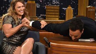 Ronda Rousey Puts Jimmy Fallon in an Armbar