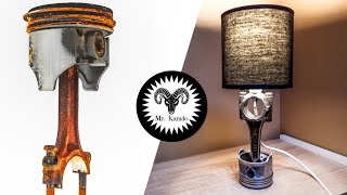I Turn a Rusty Piston into a Lamp