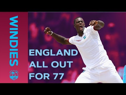 Windies Bowl England Out For Record Low 77 Windies v England Windies Finest