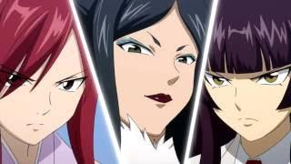 Erza vs Kagura vs Minerva (English Dub) HD