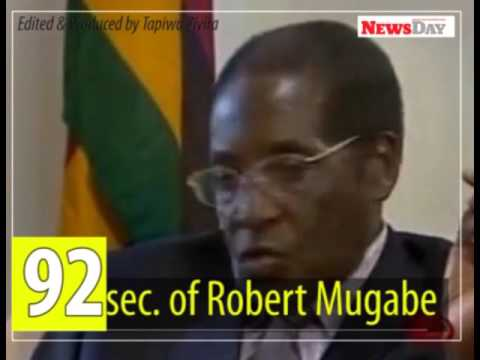 92 seconds of 92 year-old Robert Mugabe