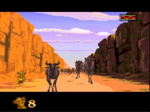 [Sega Genesis] - The Lion King - Level 4 - The Stampede