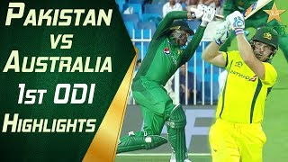 Pakistan Vs Australia 2019 | 1st ODI | Highlights | PCB