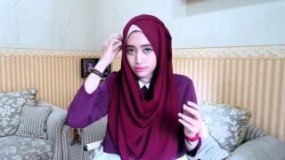 tutorial hijab simple natasha f pashmina persegi panjang