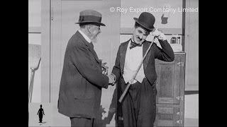 Charlie Chaplin Shows Visitor around Film Set (Rare Behind the Scenes Footage)