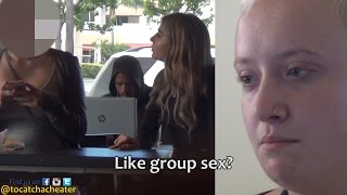 GIRL TESTS HER GIRLFRIEND'S LOYALTY AT A STARBUCKS!