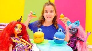 Monster High bebekler için macaron yapıyoruz!