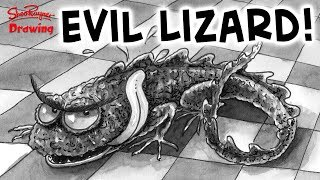 How to Draw an Evil Lizard - Illustration Technique
