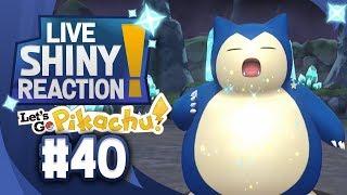 ✨SHINY SNORLAX LIVE REACTION✨ || KANTO LIVING DEX #40 - Pokémon LGPE