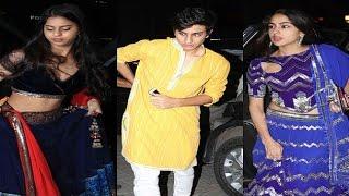 Suhana Khan, Sara & Ibrahim Ali celebrate Diwali together