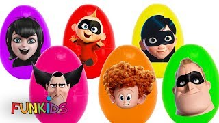 15 Play-doh Hotel Transylvania 3 with The Incredibles 2 Egg Toy Surprises