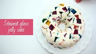 Stained glass jelly cake | Video recipe