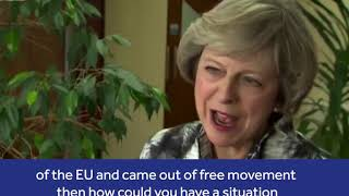Theresa May speaks about the Brexit crisis and the Irish border