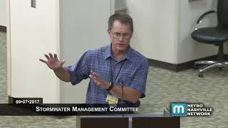 09/07/17 Stormwater Management Committee Meeting