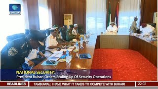 Buhari Meets Security Chiefs On National Security 20/08/18 Pt.1 |News@10|