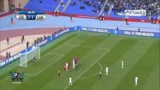 هدف رونالدينهو العالمي من نصف الملعب