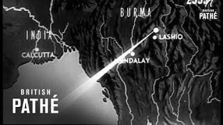 RAF Bomb Japanese Bases In Burma (1944)