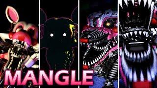 Evolution of Mangle in FNAF (2014-2015)