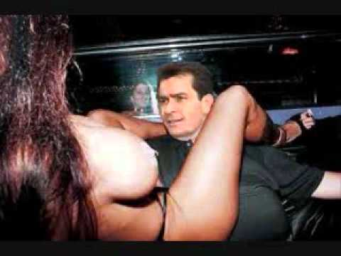 CHARLIE SHEEN the hot shot. Porn stars, party's and seven gram rocks.